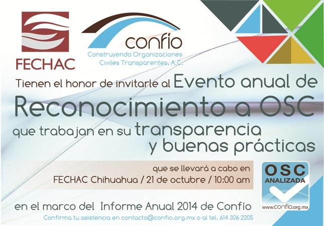 Invitación horizontal con Fechac.