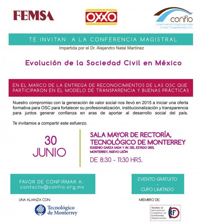 Invitación Confío, OXXO y Femsa reconocimiento