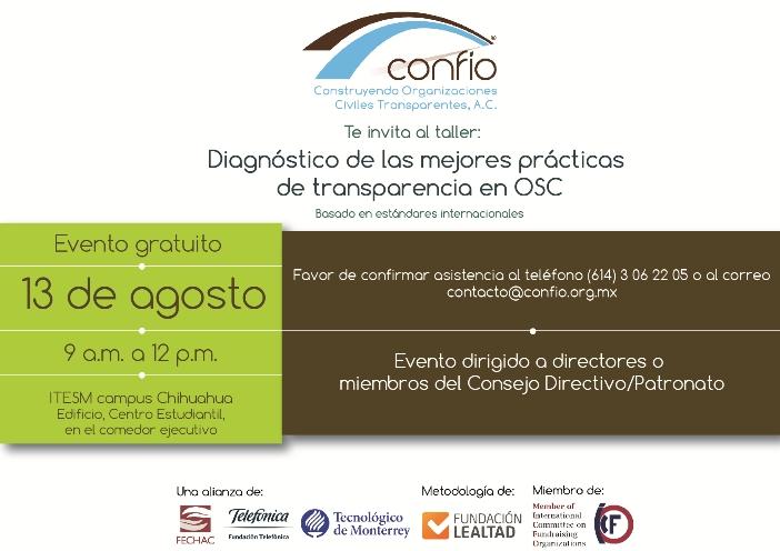 Chihuahua Agosto 2015 Confío Transparencia