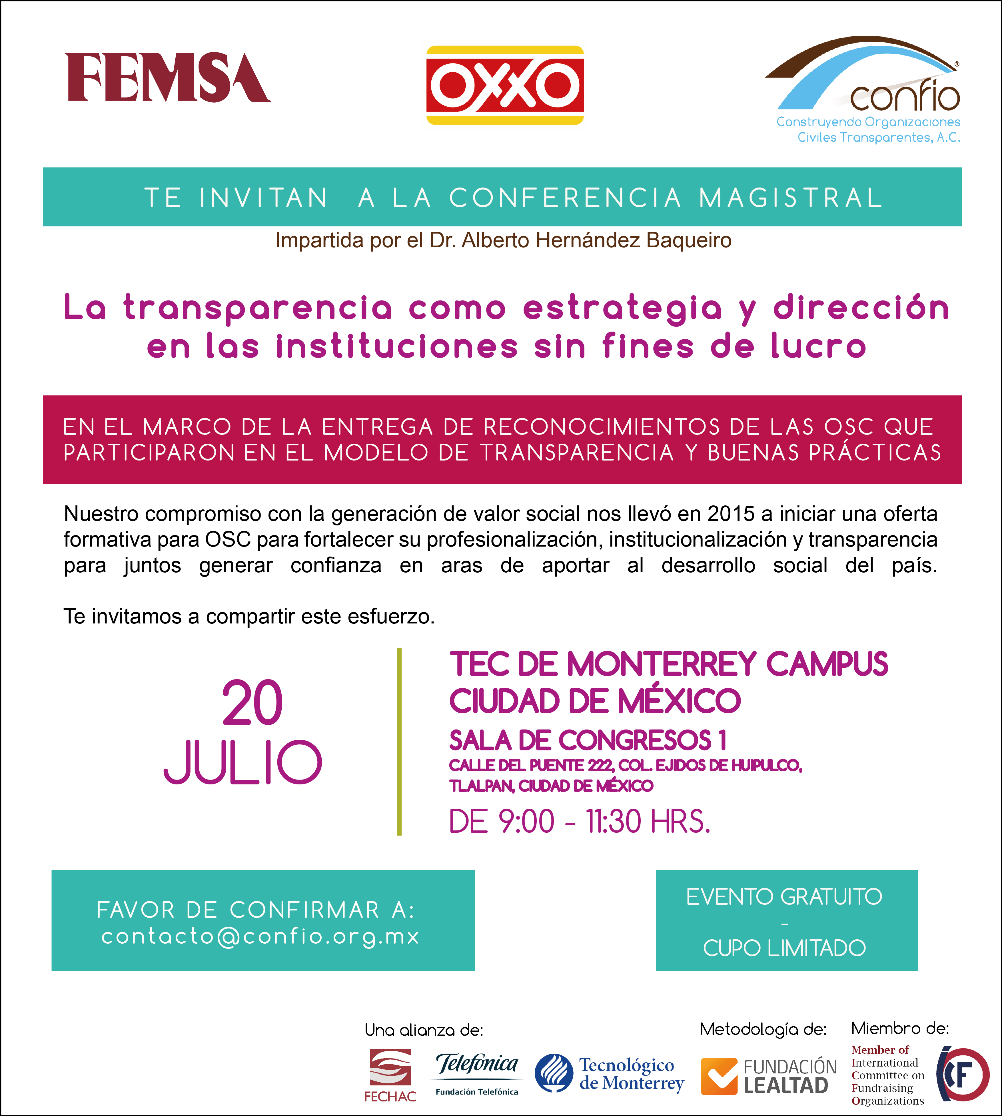invitación Confío, OXXO y Femsa reconocimiento CDMX CONFÍO-01