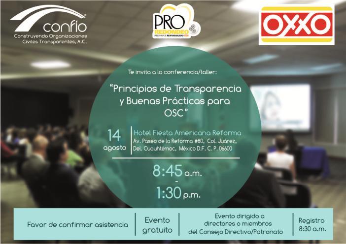 Evento OXXO Confío Ciudad de México Agosto 2015
