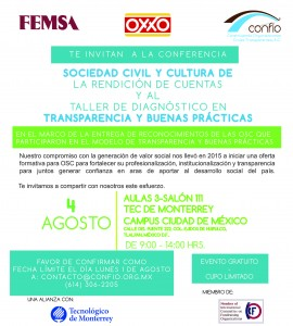 Confío, OXXO y Femsa reconocerán a OSC en la Ciudad de México
