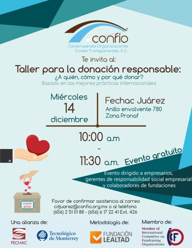 taller de donantes Confío 2016